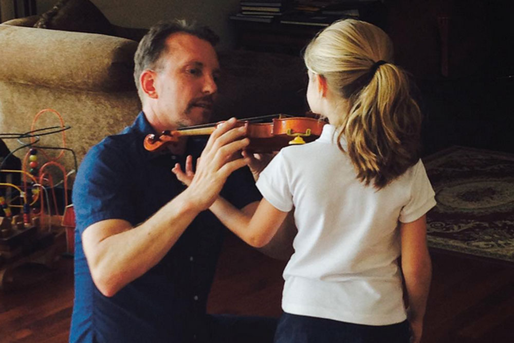 Heidi's First Music Lesson: A Visit to Benning Violins