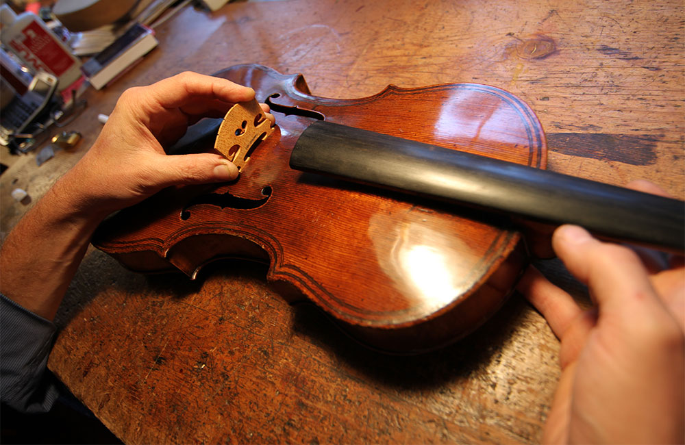 Installing the Bridge on a Stringed Instrument