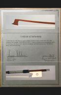 Marcel-LaPierre-violin-bow-certificate